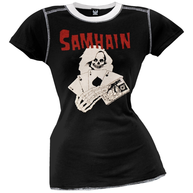 Samhain - Death Card Juniors Ringer T-Shirt