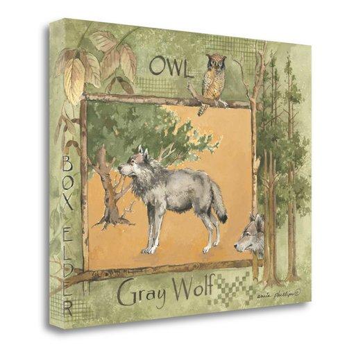Tangletown Fine Art ''Gray Wolf'' By Anita Phillips Graphic Art Print on Canvas