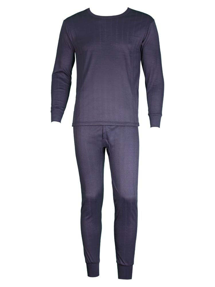 100/% Underwear /& Top Bottom Lined Men Johns Cotton 2Pc Thermal Fleece Long Set