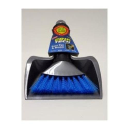 Carrand 93034 Plastic Dust Pan And Hand Broom Set, Assorted Colors