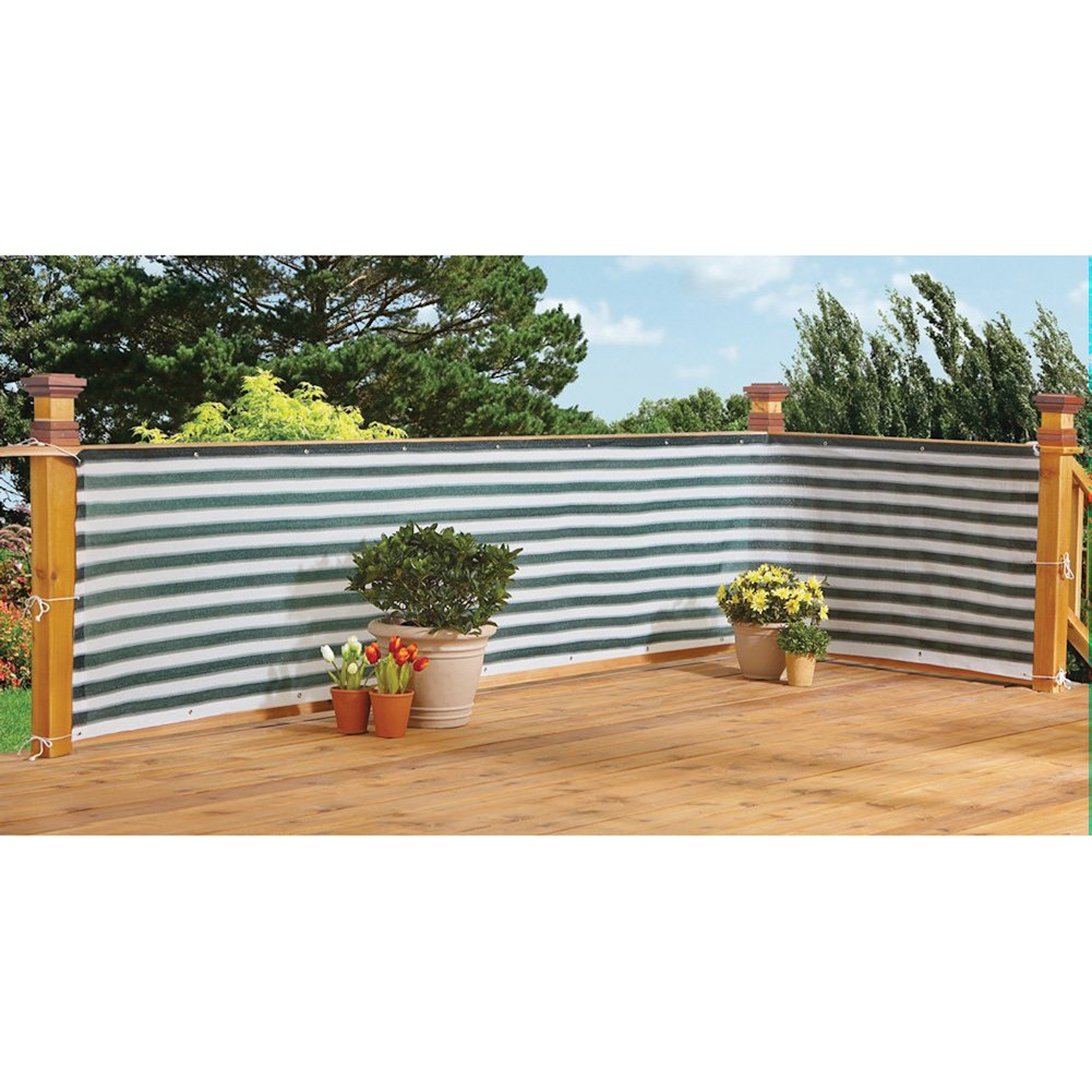 Flexible Outdoor Water Proof Two-Toned Privacy Deck Fence by db Roth