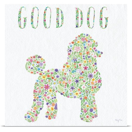 Great Big Canvas Carly Rae Studio Poster Print Entitled Poodle   Good Dog