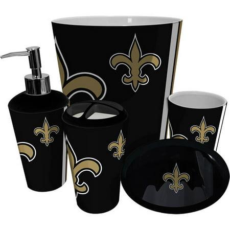 Nfl New Oreans Saints Decorative Bath Collection 12pc Shower Hooks Best Bath Fan Shop