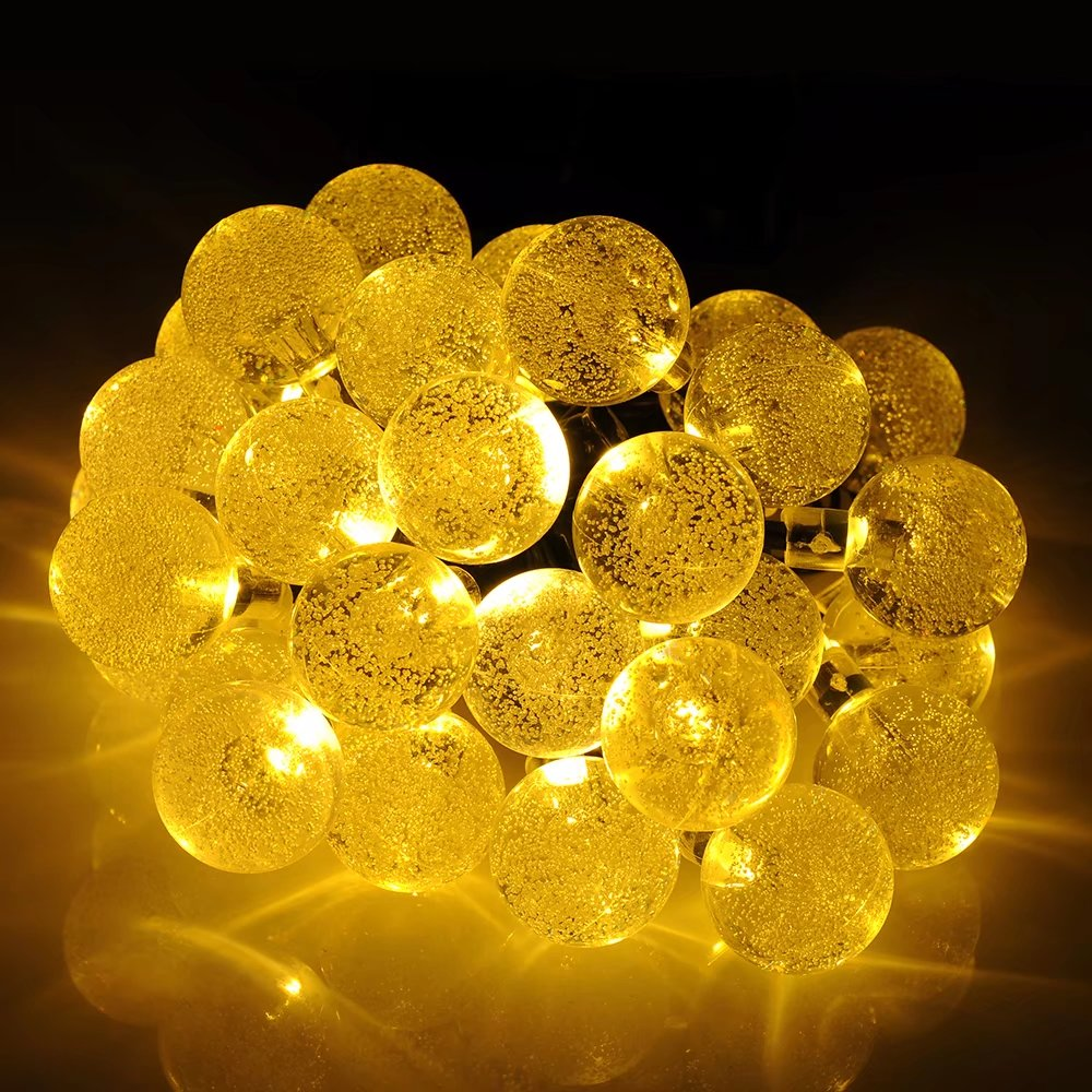 Mpow Solar Outdoor String Lights 20ft 30 LED Multi-color Four-color Crystal Ball Solar Powered Globe Fairy Lights for Garden Fence Path Landscape Decoration (Multi-color)