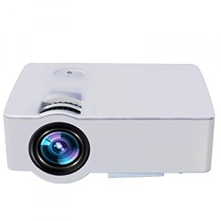 Home Video Projector Leshp E08 Lcd Family Cinema Projector Portable Multimedia 1500 Lumens For Home Entertainment  Party And Games  White