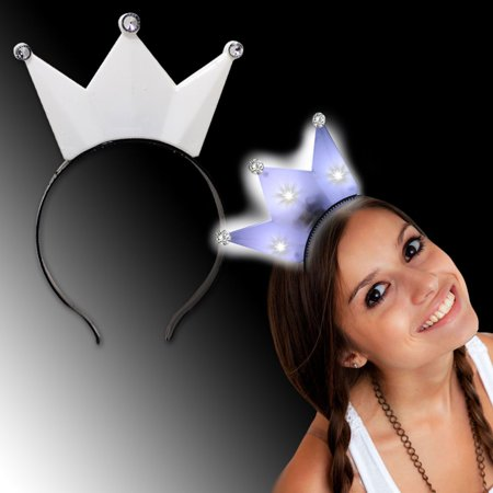 8 Pcs Light-Up Glow Princess Tiara Crown LED Blinking Headband Birthday Party](Led Glow Rings)