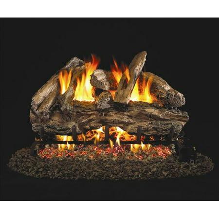 Standard Charred Red Oak Gas Logs - 24 Inch