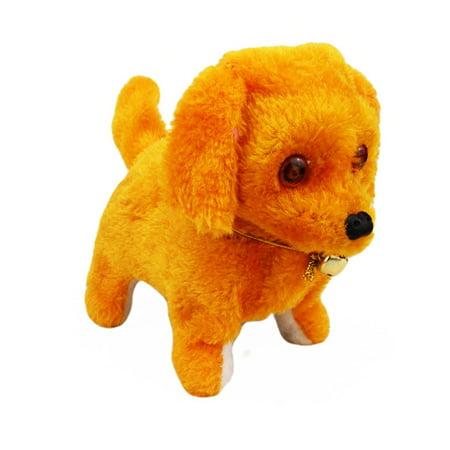 Voberry Music Light Cute Robotic Electronic Walking Pet Dog Puppy Kids Toy Ye