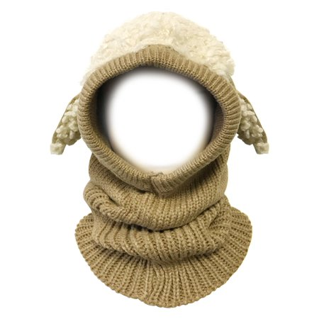 - Wrapables® Winter Warm Knitted Animal Ears Earflap Hood Hat for Baby and Toddlers, Taupe