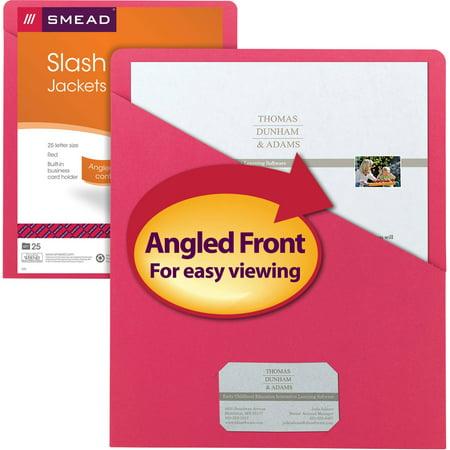 - Smead Organized Up® Slash Jacket, Letter Size, Red, 25 per Pack (75433)
