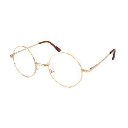 JOHN LENNON costume Circle Round Retro Large Metal Frame Clear Lens ...