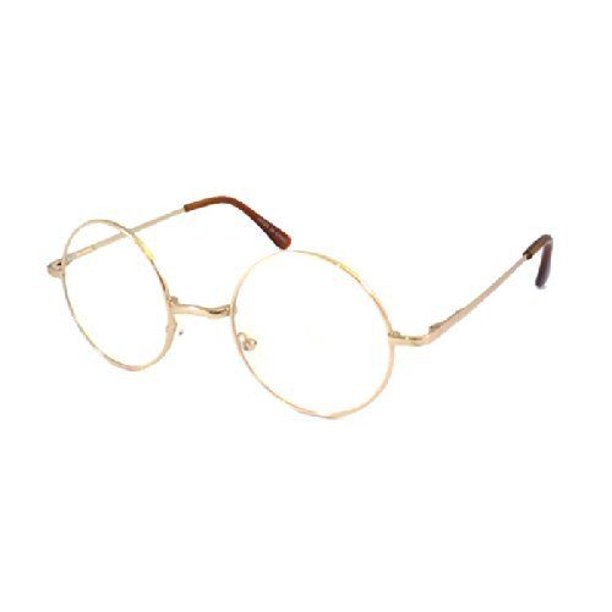 Skylark John Lennon Costume Circle Round Retro Metal Frame Eyeglasses Gold Walmart Com Walmart Com