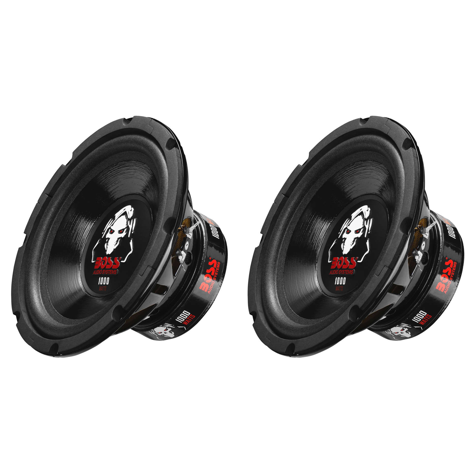 Boss Audio 8-Inch Dual Voice Coil 4-Ohm 1000-Watt Car Subwoofer (2 Pack) P80DVC