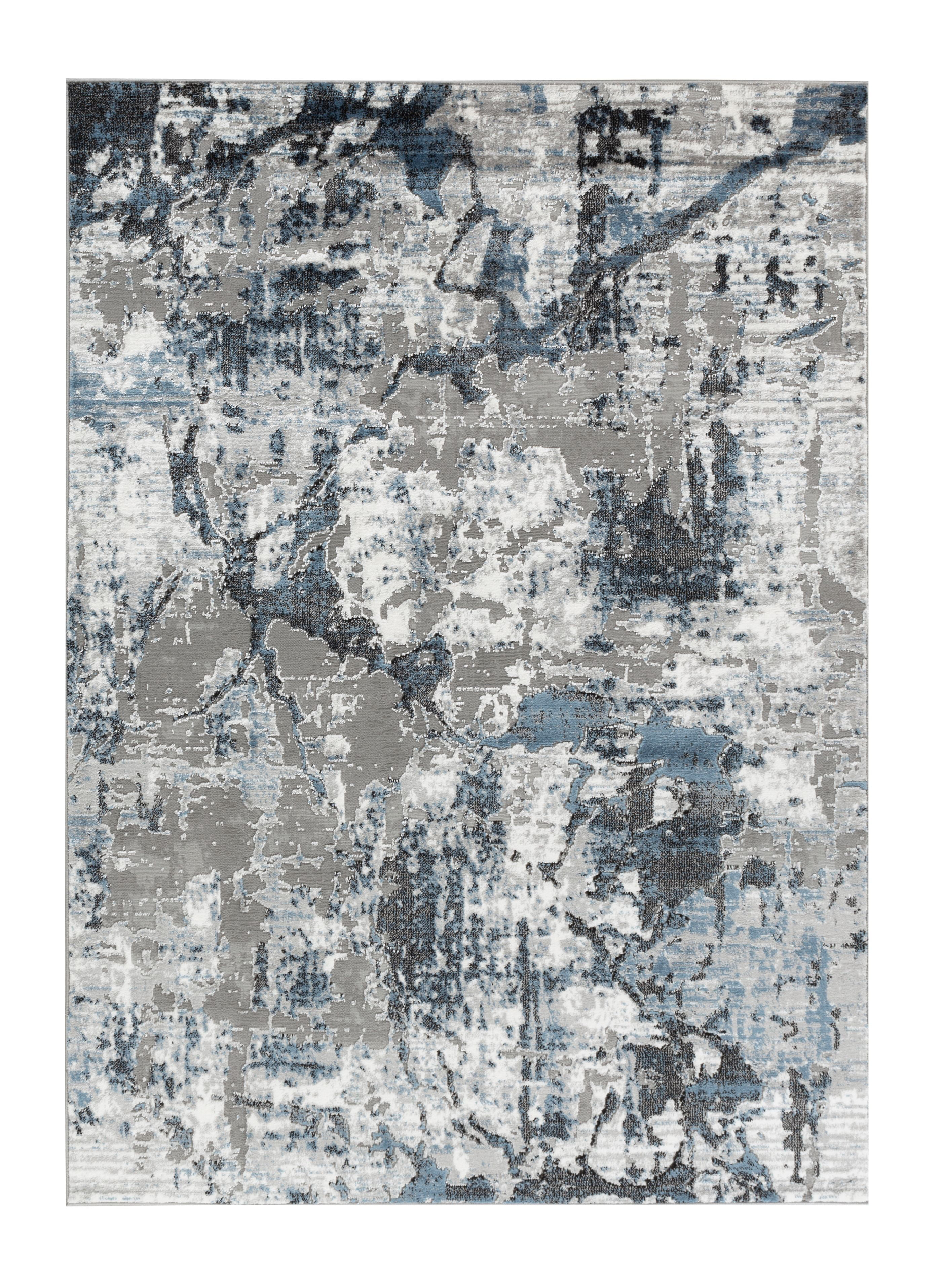 Picture of: Allure Collection Blue Gray Abstract Marble Soft Area Rug Walmart Com Walmart Com