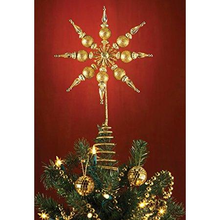 snowflake christmas tree topper gold - Walmart Christmas Tree Toppers