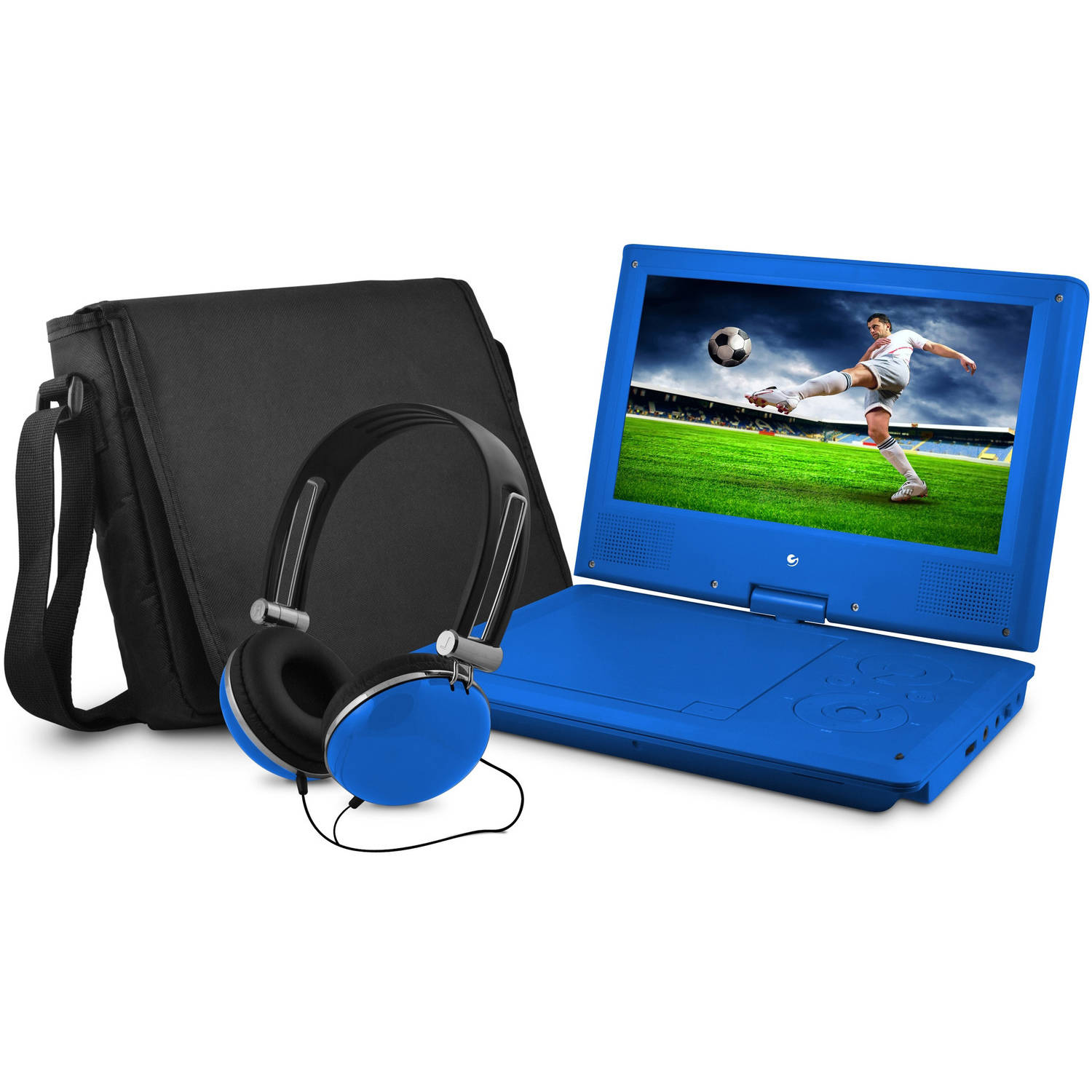 "Ematic 9"" Portable DVD Player with Matching Headphones and Bag"