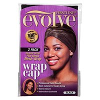 Firstline Evolve Essentials Black Satin & Mesh Wrap Caps, 2 pack