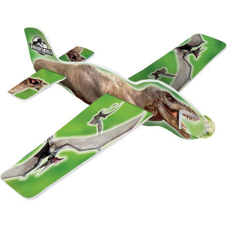 (3 Pack) Jurassic World Glider Plane Party Favors, - Jurassic Park Birthday Party