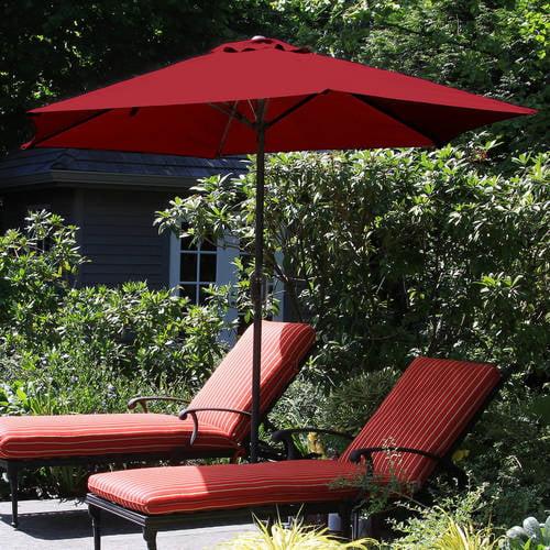 Pure Garden 9' Aluminum Patio Umbrella with Auto Crank by Trademark Global LLC