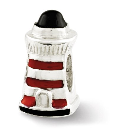 Florida Lighthouse Charm - Sterling Silver Enameled Lighthouse Bead Charm