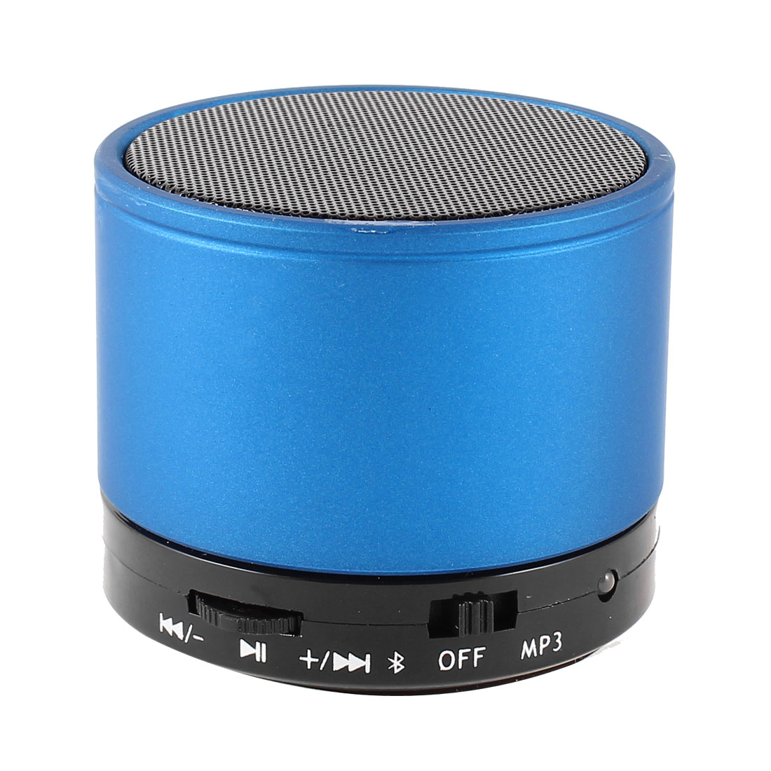 Metal Wireless bluetooth 3.0 TF Slot FM MP3 Handfree Mic Mini Speaker Bass Blue