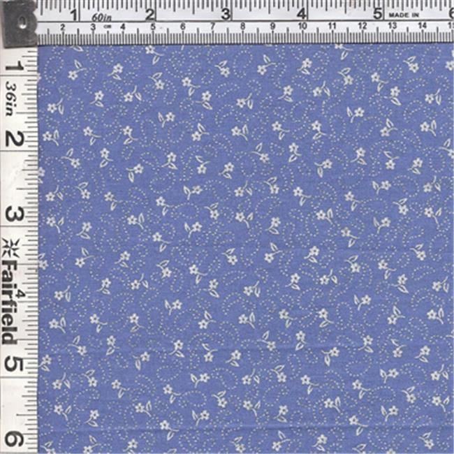 Textile Creations CALI-426 Calico New Arrivals 3, Small Flower & Paisl Blue & Ivory