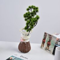 OTVIAP Simulation Tree Artificial Bonsai Fake Guest Greeting Tree Potted Plant Home Office Decor , Fake Potted Tree, Fake Tree