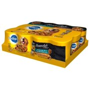Pedigree Homestyle Meals Prime Rib and Roasted Chicken, Rice & Vegetable Flavor Variety Pack Wet Dog Food, 13.2 Oz (Case of 12)