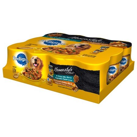 Pedigree Homestyle Meals Prime Rib   Roasted Chicken  Rice And Vegetable Flavor Variety Pack Wet Dog Food  13 2 Oz  12 Ct