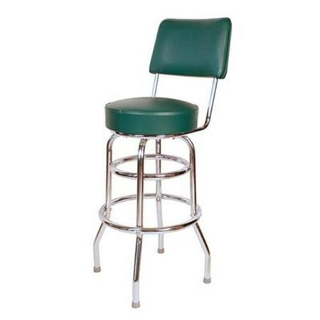 Richardson 30' Swivel Stool - richardson seating corp 1958grn 1958- 30 in. floridian swivel bar stool, green,  - chrome - green