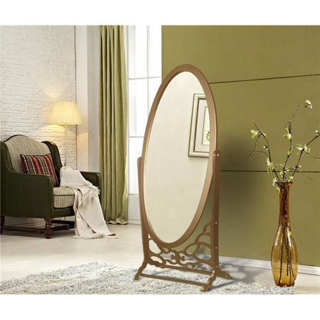 FCM2621 Chic Home York Mirror Modern Free standing Spindle accent legs Floor Mirror - Gold