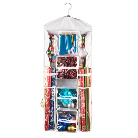 Gift Bag Organizer (Elf Stor | Double Sided | Deluxe | Hanging Gift Wrap and Bag Organizer)