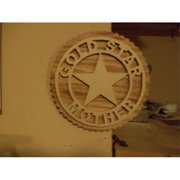 Fine Crafts 1224MIL Wooden Gold Star Mother wall hanging