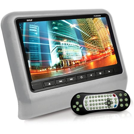 "Pyle Headrest Vehicle 9"" Video Display Monitor, CD/DVD Player, USB/SD Readers, HDMI Port (Gray)"