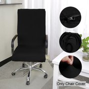 Piccocasa 1 Piece Spandex Swivel Chair Covers for Office,Waterproof,Black