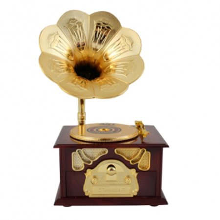 Disc Stationary Jewelry Box and Wind Up Music (Wind Players)