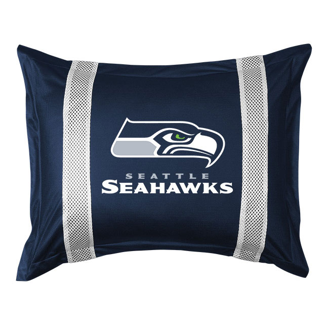 NFL Seattle Seahawks Pillow Sham Sidelines Bed Accessory