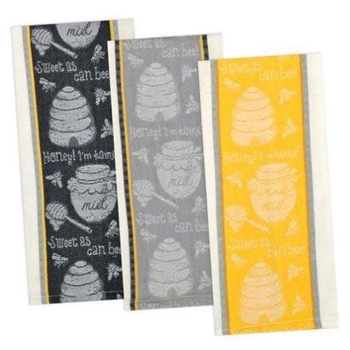 Bee Hive Honey Scones Recipe Flour Sack Kitchen Dish Towel Cotton