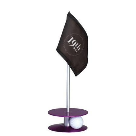 Anne Stone Golf Putt-A-Round Putting Aid 19th Hole Flag Purple Base