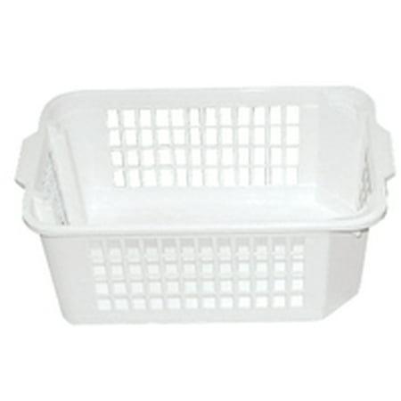 Haff Basket - School Smart Medium Storage Basket, 14-3/4 x 10-1/4 x 5 -1/2 Inches, White