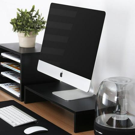 Keyboard Storage - FITUEYES Computer monitor Riser Desktop Stand with keyboard Storage Space 2 shelf FDT105401WB