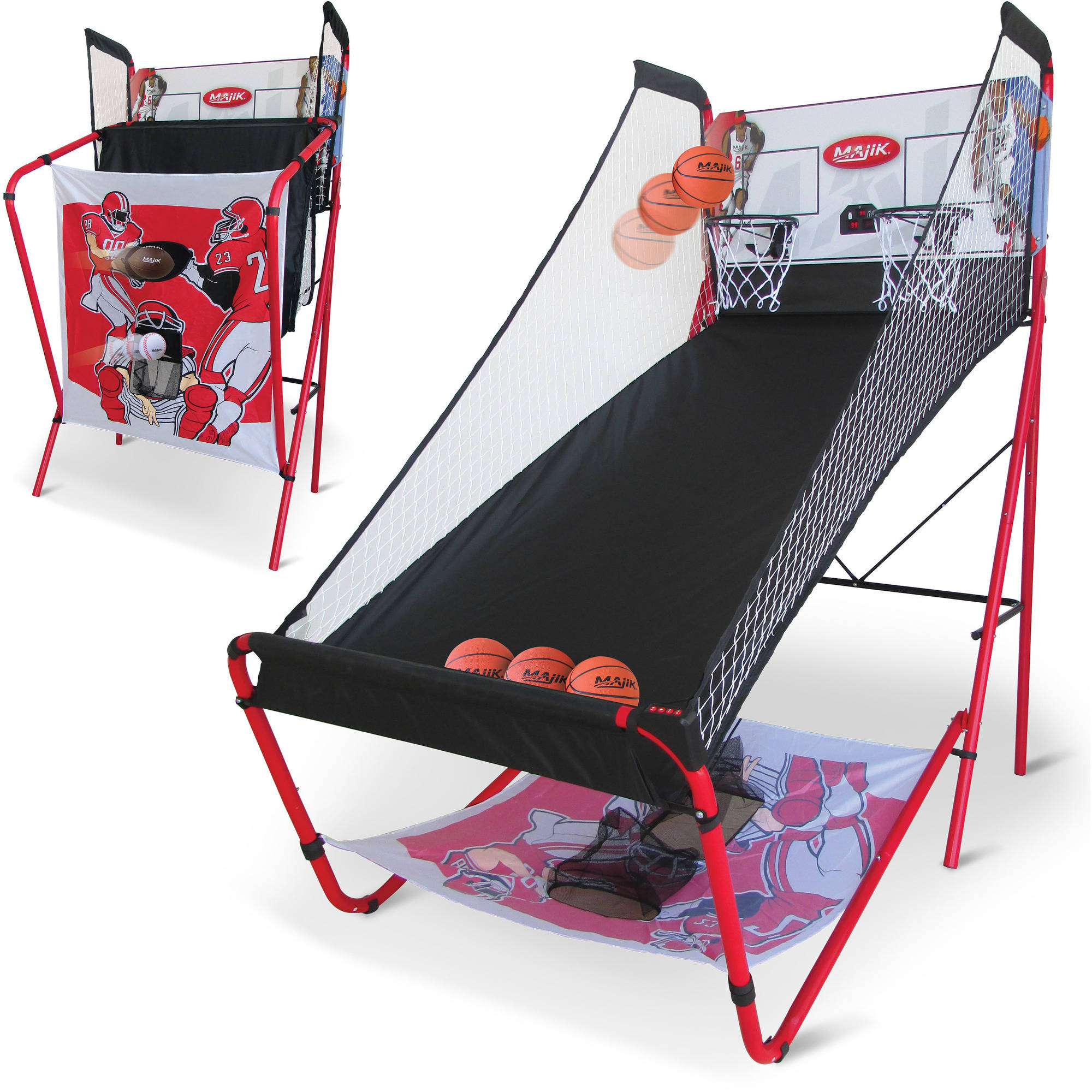Majik 3-in-1 Triple Threat Sport Center with Automatic LED Scoring