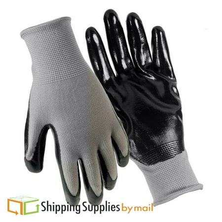 Nitrile Dipped Coated Work Gloves for General Purpose, Small 12-Pairs Per Pack ()