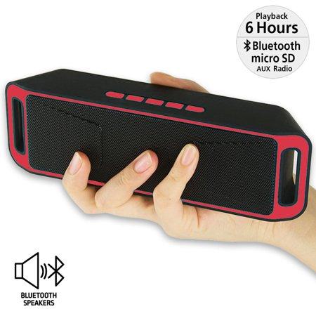 Indigi? Portable Wireless Super Bass Stereo Bluetooth 4.0 Speaker for Smartphone (RED) - image 4 de 4