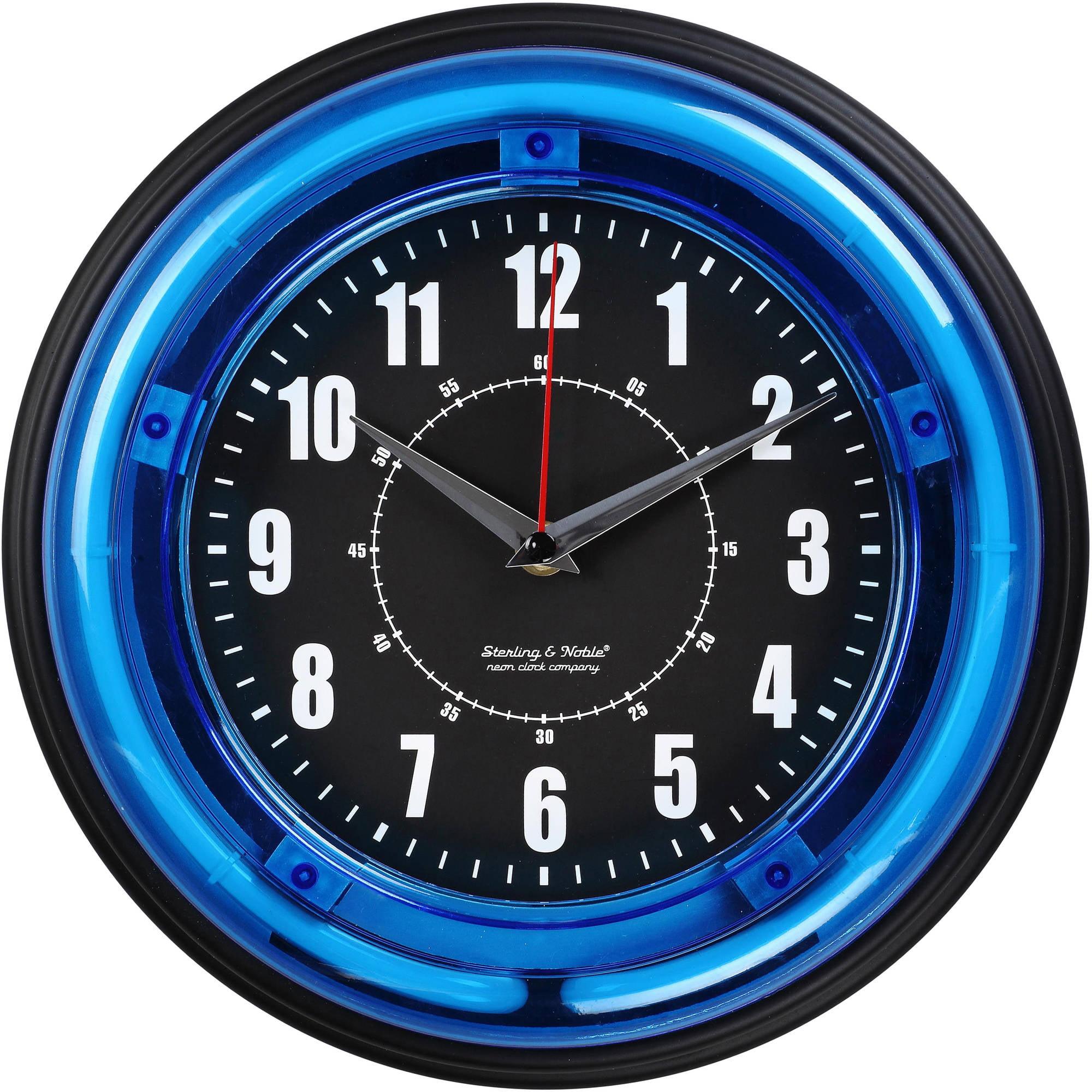 """11"""" Blue Neon Clock"""