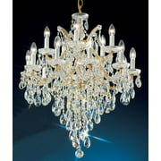 28 in. Maria Theresa Chandelier in Old World Gold Finish (Crystalique)