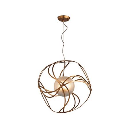 World of Lights WLGT143594 Pendants Antique Gold Leaf Metal Oriona