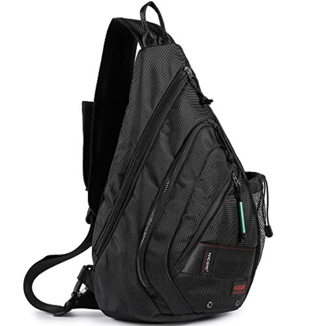 Men Sling Chest Crossbody Bag One Strap Shoulder Daypack Outdoor Packbag School