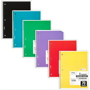 Mead Spiral Notebook, 1 Subject, College Ruled, 70 Sheets, 6 Pack (73065)