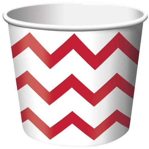 Chevron Stripe Treat Cups, Red, Pack of 6